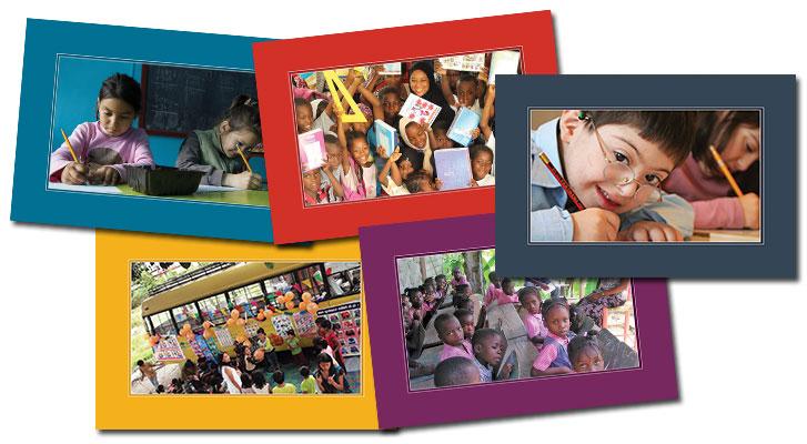 Cartes de vœux Ecoles du Monde