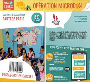 opération de micro don à Paris