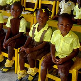 Je donne pour les enfants d'Haïti