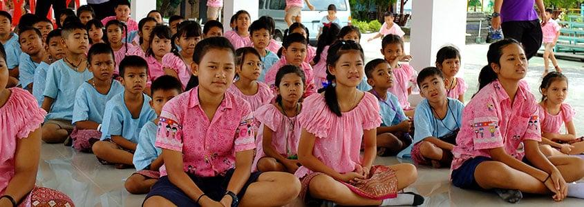 Des bénéficiaires de notre partenaire le CPCR en Thaïlande