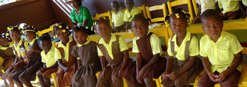 Une classe de notre partenaire Haïtien l'ACDED