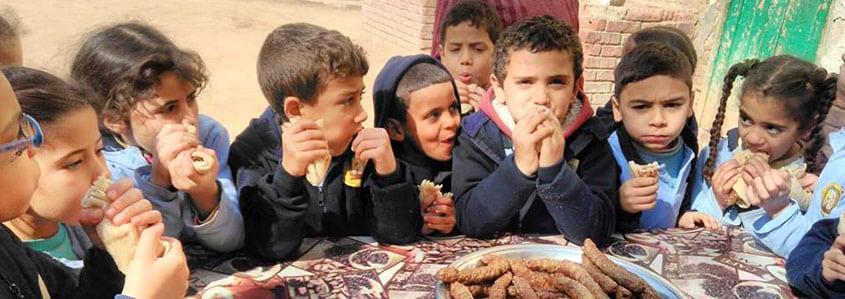 Un repas de classe en Egypte avec l'AHEED