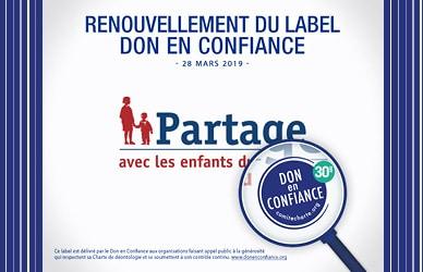 Renouvellement Label Don en confiance 2019