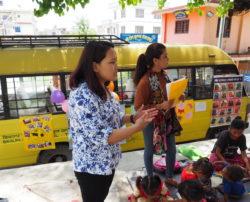 Bibliobus en itinérance au Népal