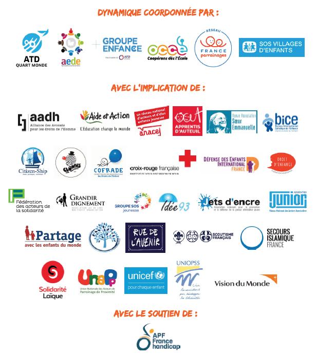 Logos des membres de la Dynamique de la Convention aux Actes