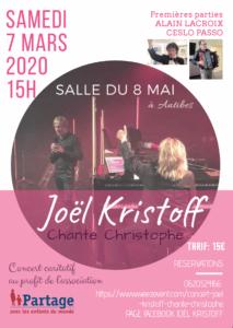 Partage Alpes Maritime et Joël Kristoff organise un concert caritatif