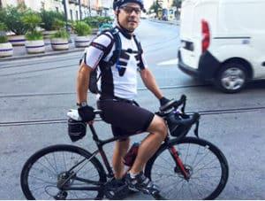 Initiative personnelle - Yann et sa course solidaire en vélo