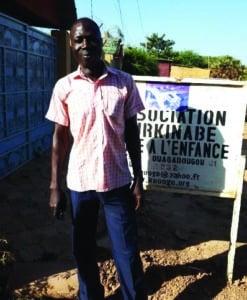 Seydou Zidouemba, pair éducateur à Keoogo au Burkina Faso