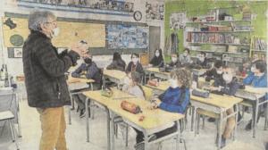 Partage Calvados et l'opération bol de riz à l'école de La Folie-Couvrechef